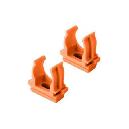 Крепеж-клипса для трубы 25 мм оранжевая