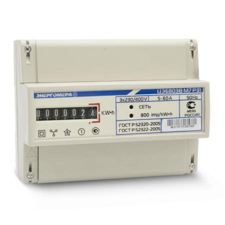Счетчик ЦЭ 6803В 1-7,5А 3ф. 4пр.М7 P31
